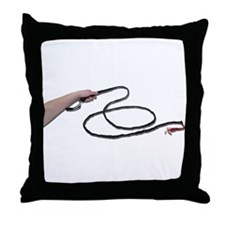Holding Whip Throw Pillow