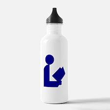Blue Tinfoil Library Logo Water Bottle