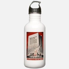 """""""Books cannot be killed by fi Water Bottle"""