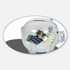 Honeymoon Savings Sticker (Oval)