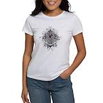 Myeloma Faith Family Cross Women's T-Shirt