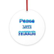 Swimming Ornament (Round)