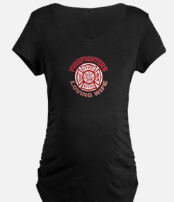 Firefighters Loving Wife T-Shirt