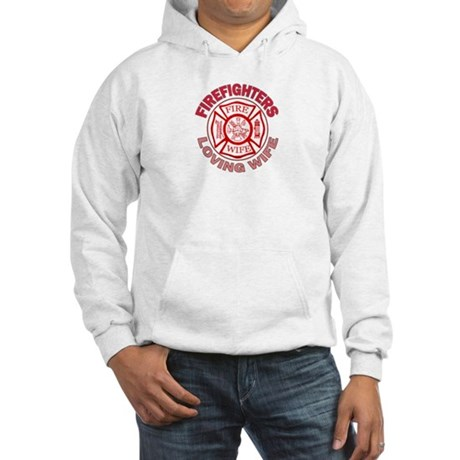Firefighters Loving Wife Hooded Sweatshirt