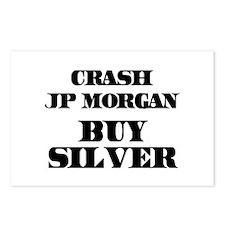 Crash JP MORGAN Buy Silver Postcards (Package of 8