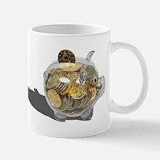 Piggy Bank Gold Coins Mug