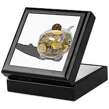 Piggy Bank Gold Coins Keepsake Box