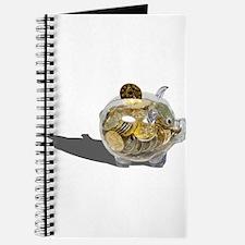 Piggy Bank Gold Coins Journal