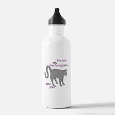 Gray Cat's Mammogram Water Bottle