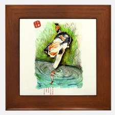 Lucky Cat and Lucky Fish Framed Tile