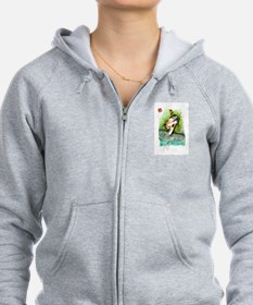 Lucky Cat and Lucky Fish Zip Hoodie