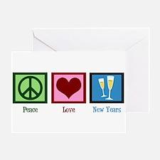 Peace Love New Years Greeting Card