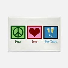 Peace Love New Years Rectangle Magnet