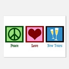Peace Love New Years Postcards (Package of 8)