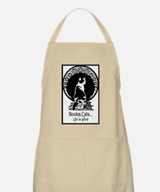 Books,Cats,Life is good Apron