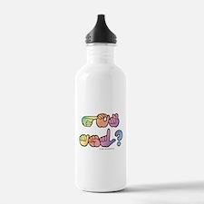 Got ASL? Pastel SQ Water Bottle
