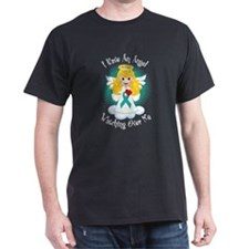 Angel Watching Me Teal Ribbon T-Shirt