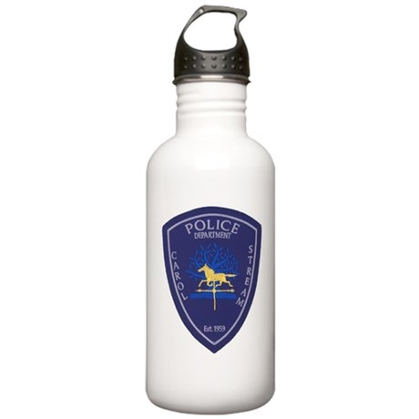 Carol Stream Police Stainless Water Bottle 1.0L
