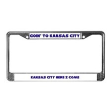 Goin' to Kansas City Blues License Plate Frame
