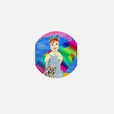 Over the Rainbow Mini Button