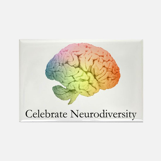 Celebrate Neurodiversity Rectangle Magnet