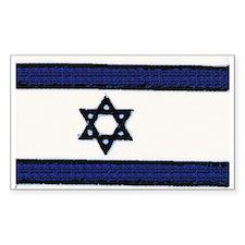 Israeli Flag Sticker (Rectangular)