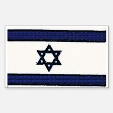 Israeli Flag Sticker (Rectangular)