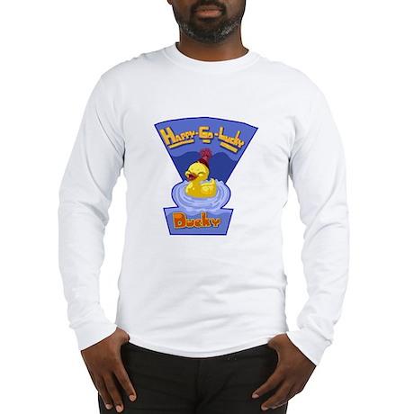 Happy-Go-Lucky Ducky Long Sleeve T-Shirt