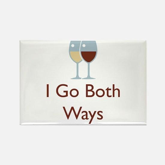 I Go Both Ways Rectangle Magnet