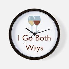 I Go Both Ways Wall Clock