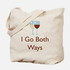 I Go Both Ways Tote Bag
