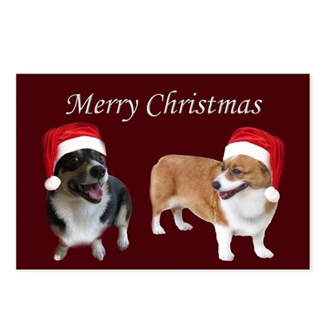 Red Corgi Christmas Postcards (Package of 8)