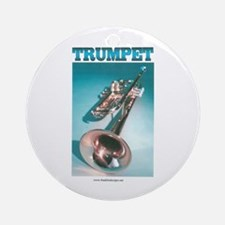 Trumpet Home Decor Ornament (Round)