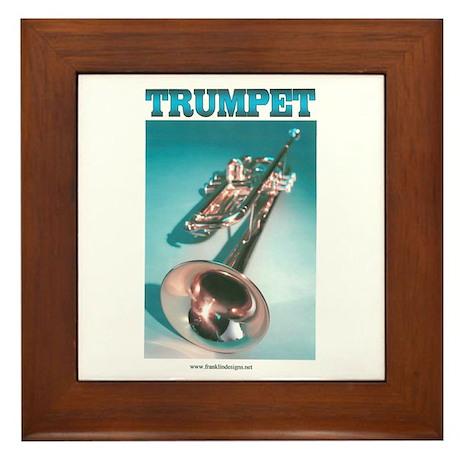 Trumpet Home Decor Framed Tile