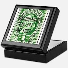 Cannibis Tax Stamp Keepsake Box