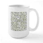 Camo ABCs Large Mug
