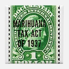Cannibis Tax Stamp Tile Coaster