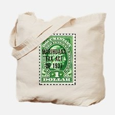 Cannibis Tax Stamp Tote Bag