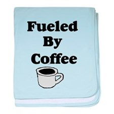 Fueled by Coffee baby blanket