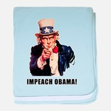 Funny Impeach tea party protest obama baby blanket