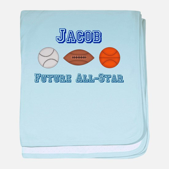 Jacob - Future All-Star baby blanket