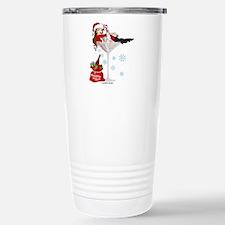 Santa Girl Martini Travel Mug