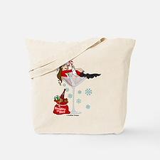 Santa Girl Martini Tote Bag