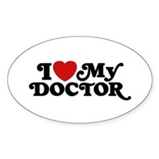 I Love My Doctor Decal