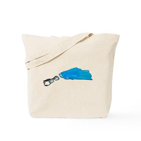 Swim Goggles Flippers Tote Bag