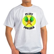 Plant Powered Ash Grey T-Shirt