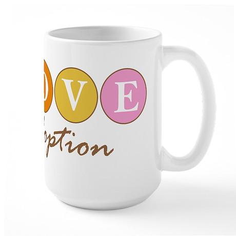 Love Adoption Large Mug