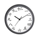 Chinese Numbers Wall Clock