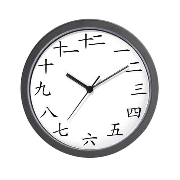 Chinese Numbers Wall Clock By Theartofliving