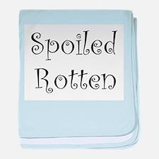 Spoiled Rotten baby blanket